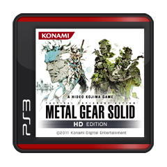 Metal Gear Solid HD Edition PlayStation 3 Front Cover