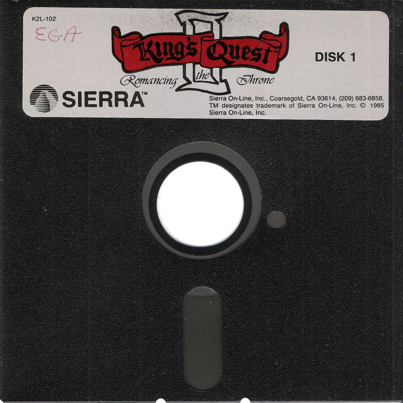 King's Quest II: Romancing the Throne DOS Media Disk (1/2)