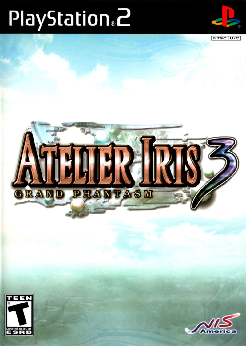 Atelier Iris 3: Grand Phantasm PlayStation 2 Front Cover