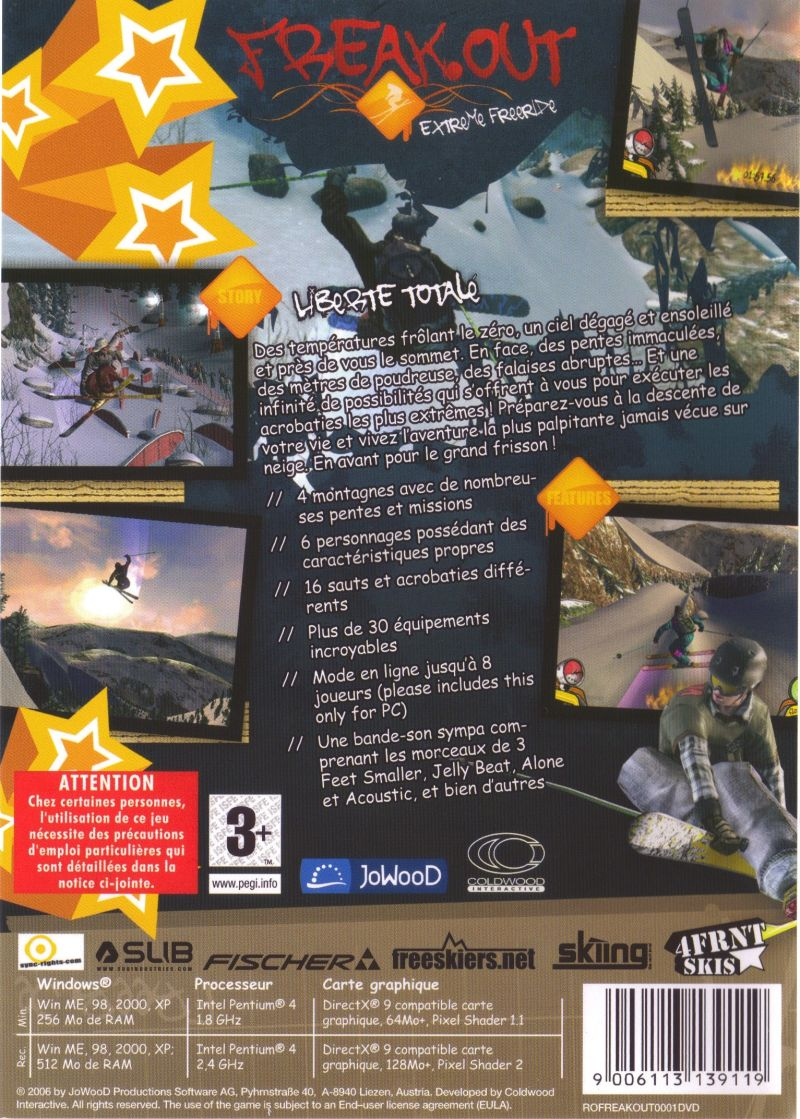 Freak Out: Extreme Freeride Windows Back Cover