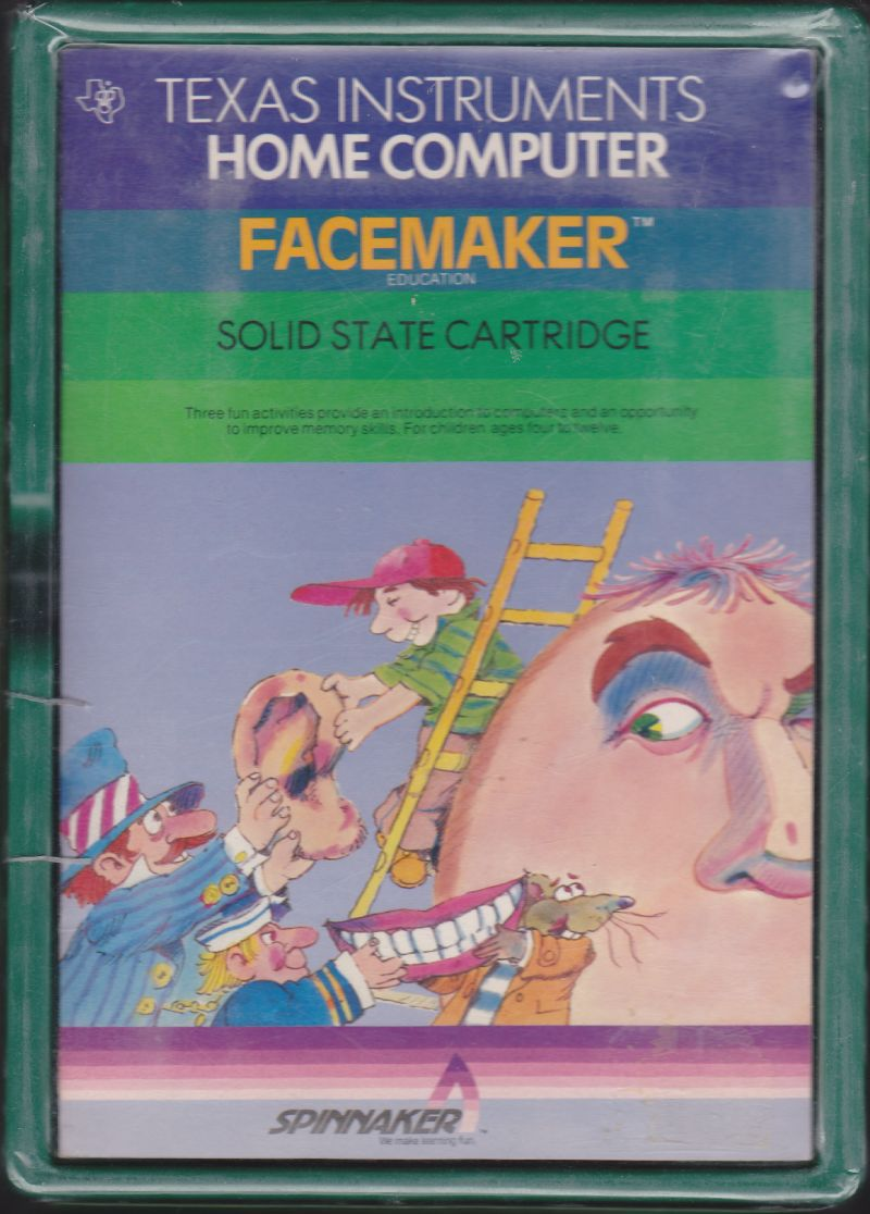 FaceMaker TI-99/4A Front Cover
