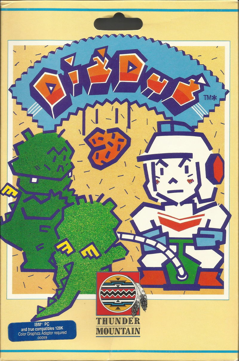 Dig Dug PC Booter Front Cover