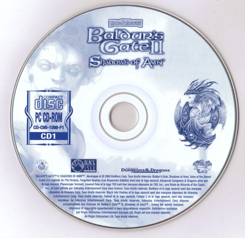 Baldur's Gate II: Shadows of Amn Windows Media Disc 1-4