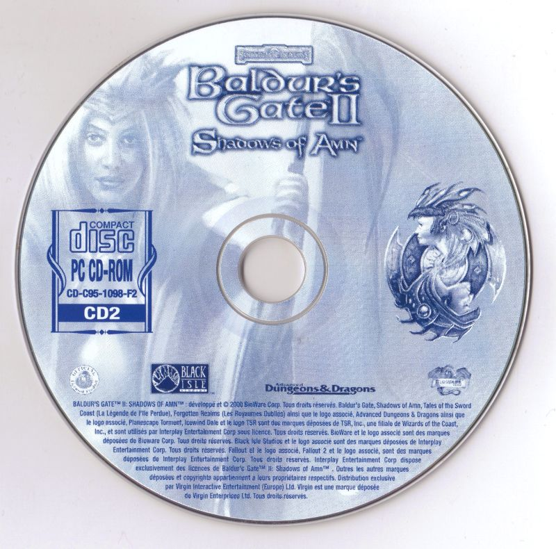 Baldur's Gate II: Shadows of Amn Windows Media Disc 2-4