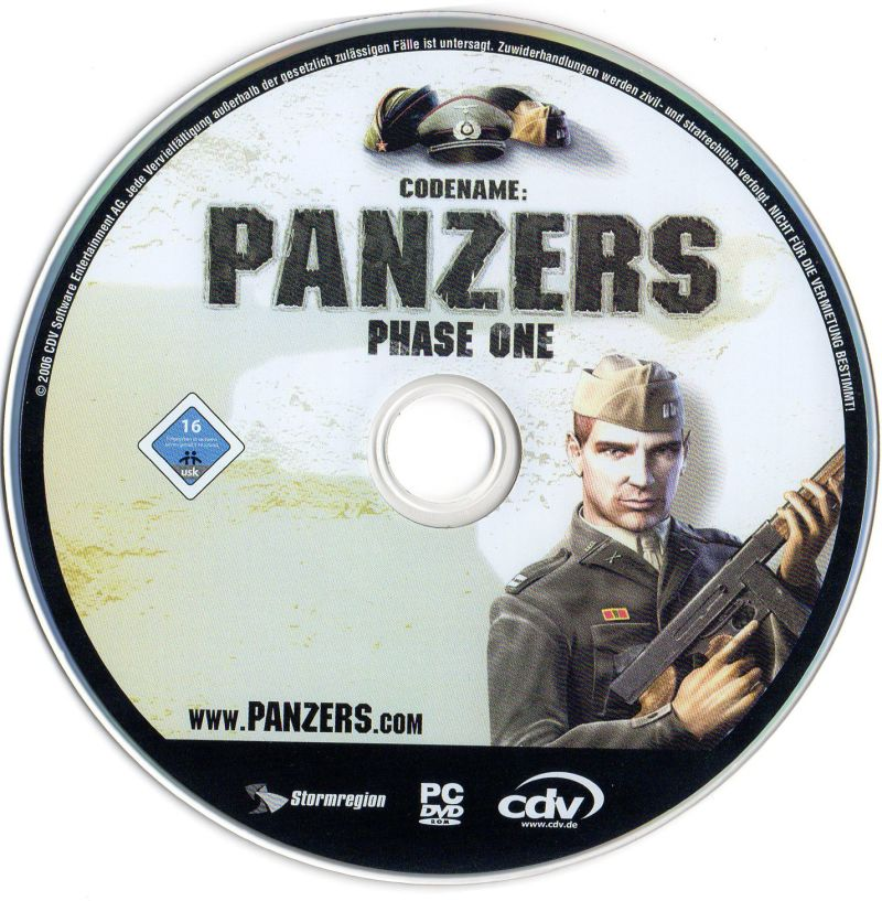 Codename: Panzers - Platinum: Phase One + Phase Two Windows Media Codename Panzers Phase One Disc
