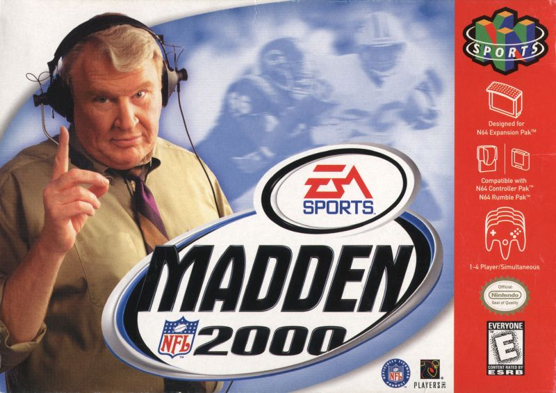 Madden NFL 2000 Nintendo 64 Front Cover