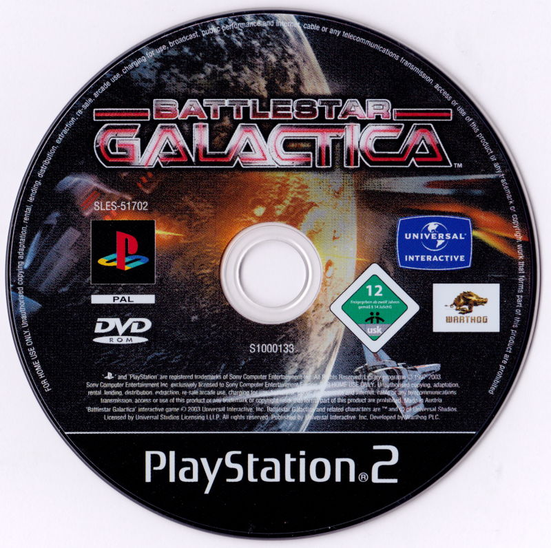 Battlestar Galactica PlayStation 2 Media