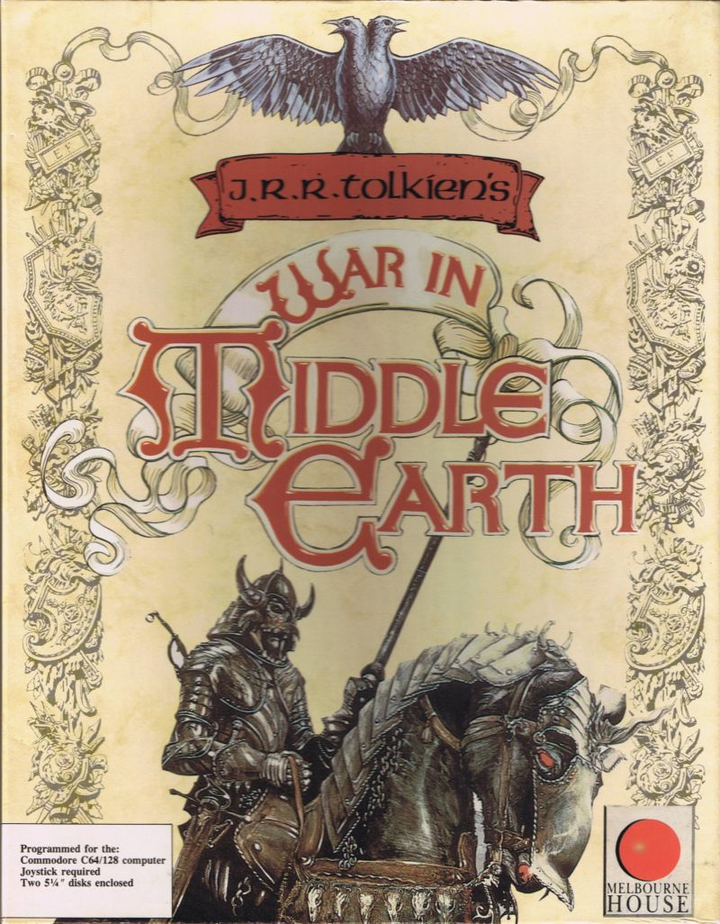 J.R.R. Tolkien's War in Middle Earth Commodore 64 Front Cover