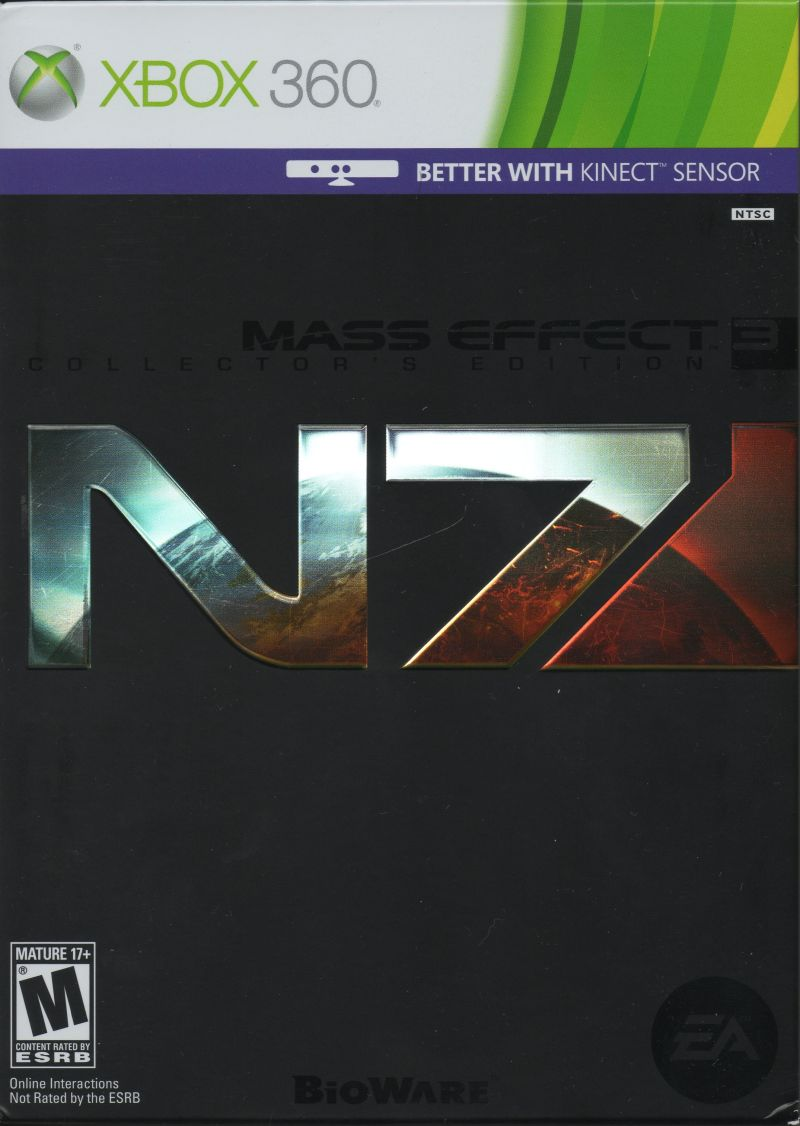 Mass Effect 3 (N7 Collector's Edition) Xbox 360 Front Cover