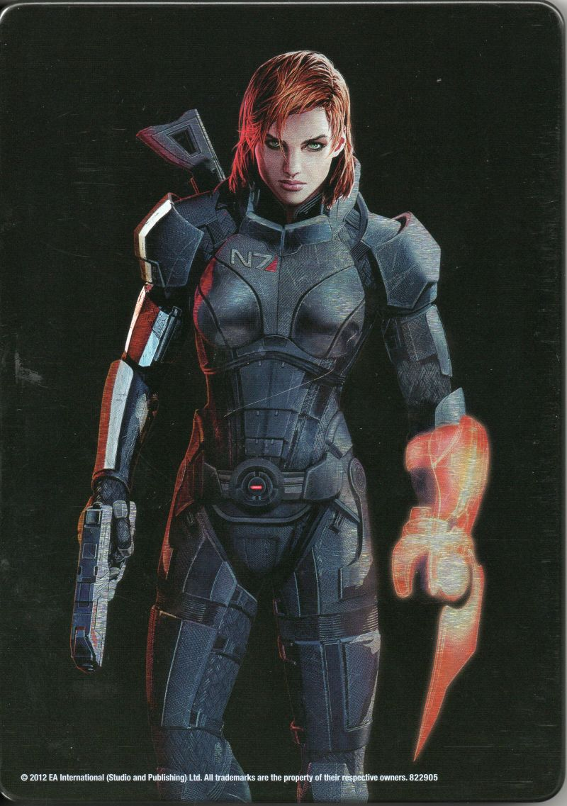 Mass Effect 3 (N7 Collector's Edition) Xbox 360 Other Metal keep case - Back