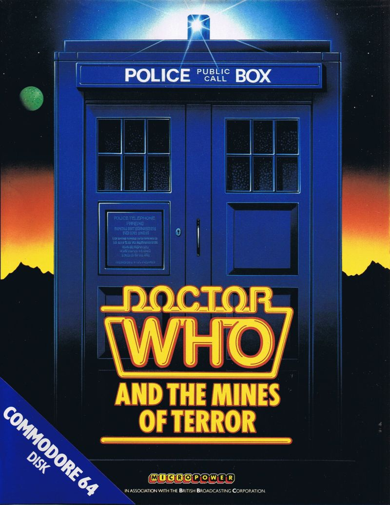 Doctor Who and the Mines of Terror Commodore 64 Front Cover