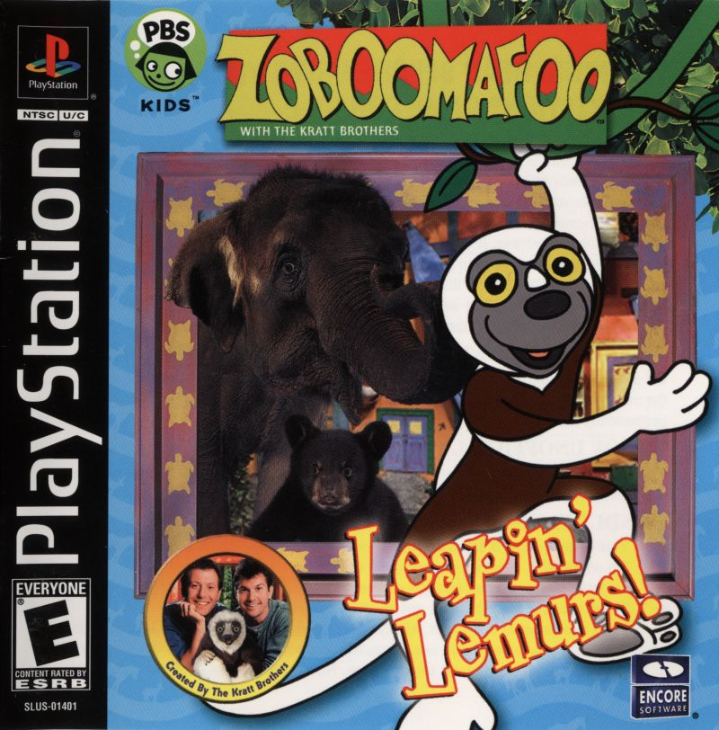 Zoboomafoo: Leapin' Lemurs! PlayStation Front Cover