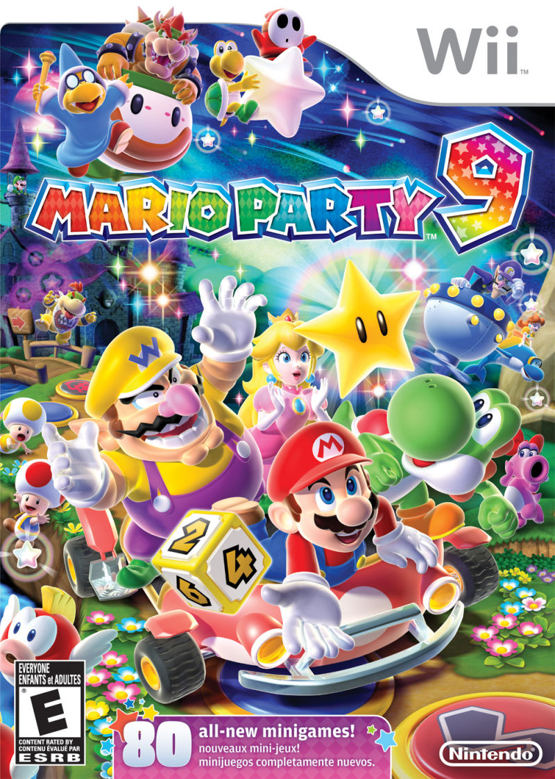 Mario Party 9 Wii Front Cover