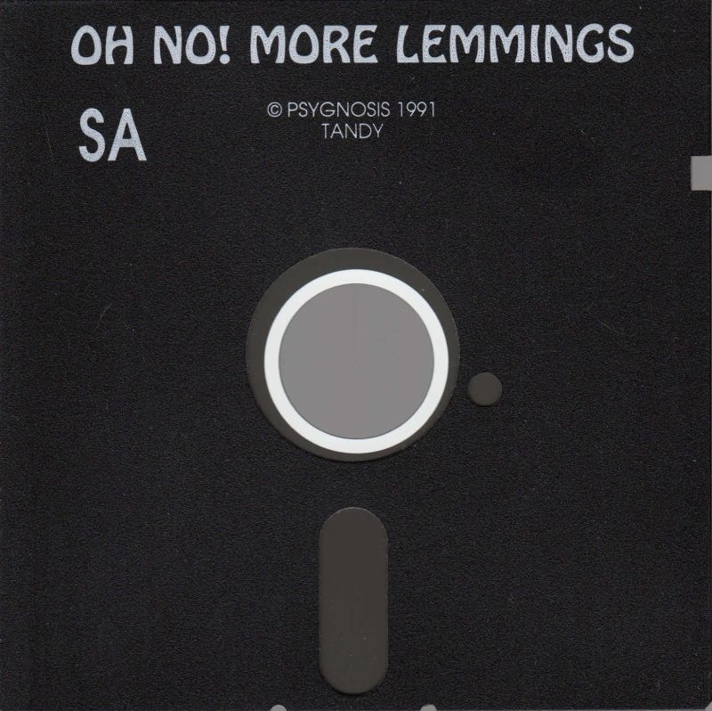 "Oh No! More Lemmings DOS Media 5.25"" Floppy (Tandy Version)"