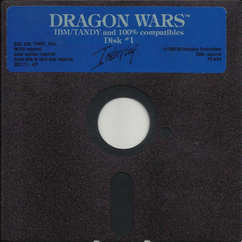 Dragon Wars DOS Media