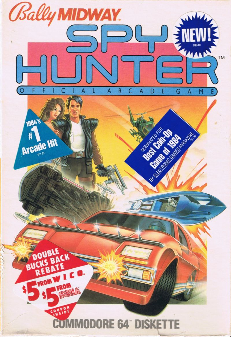 Spy Hunter Commodore 64 Front Cover