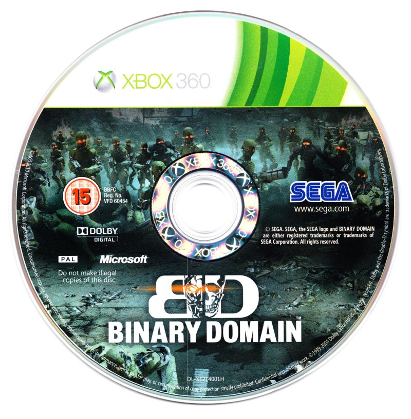 Binary Domain Xbox 360 Media