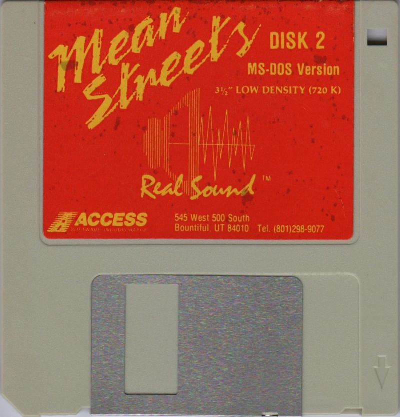 Mean Streets DOS Media Disk 2/3