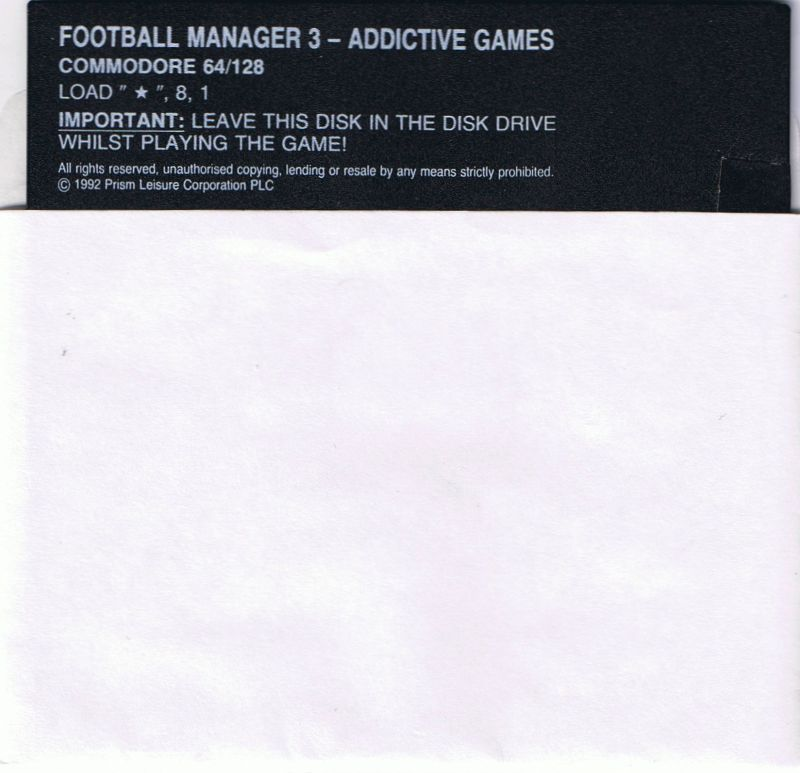 Football Manager 3 Commodore 64 Media