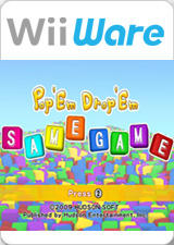 Pop 'Em Drop 'Em Samegame Wii Front Cover