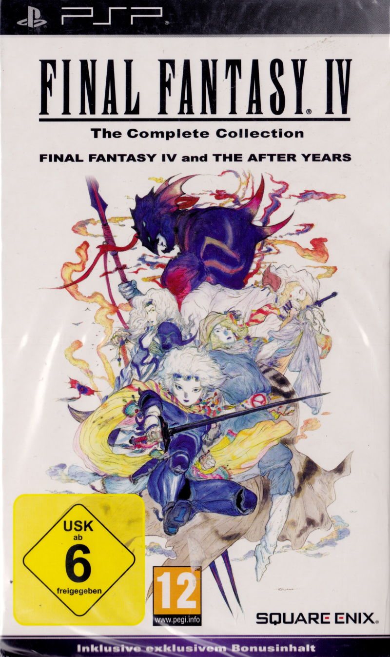 Final Fantasy IV: The Complete Collection PSP Front Cover
