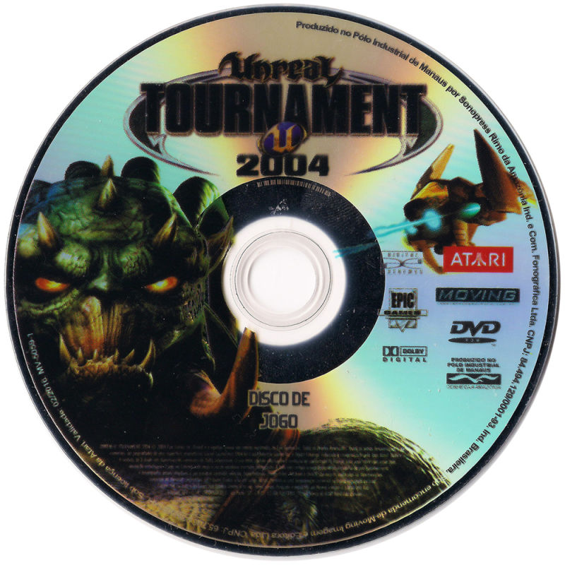 Unreal Tournament 2004 Linux Media Game Disc