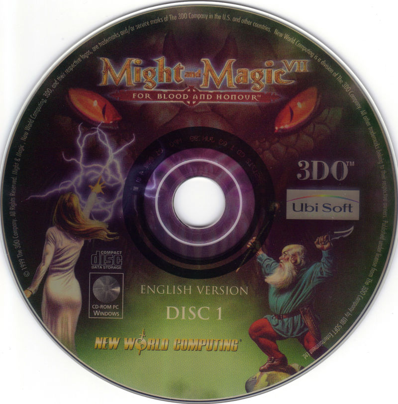 Might and Magic VII: For Blood and Honor Windows Media Disc 1/2