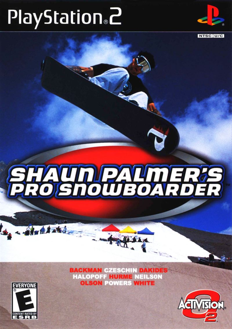 Shaun Palmer's Pro Snowboarder PlayStation 2 Front Cover
