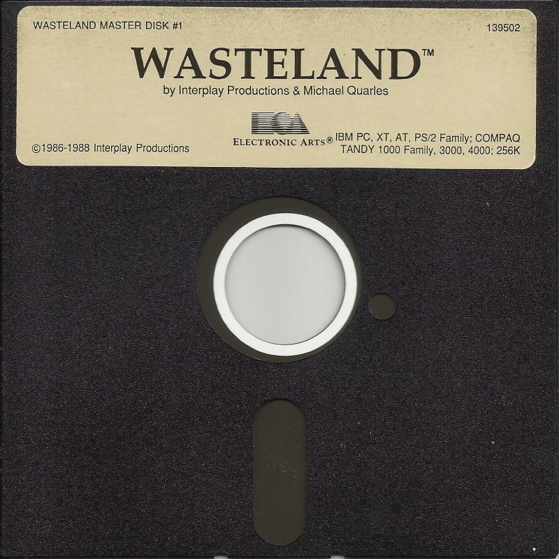 "Wasteland DOS Media 5.25"" Disk 1/2"