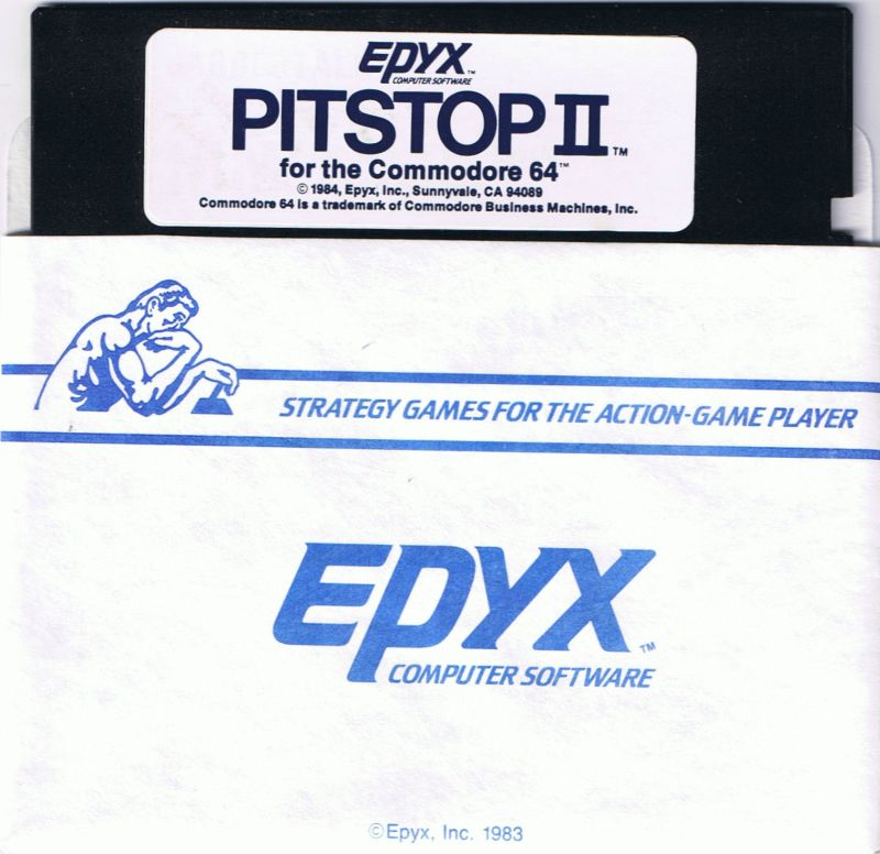 Pitstop II Commodore 64 Media