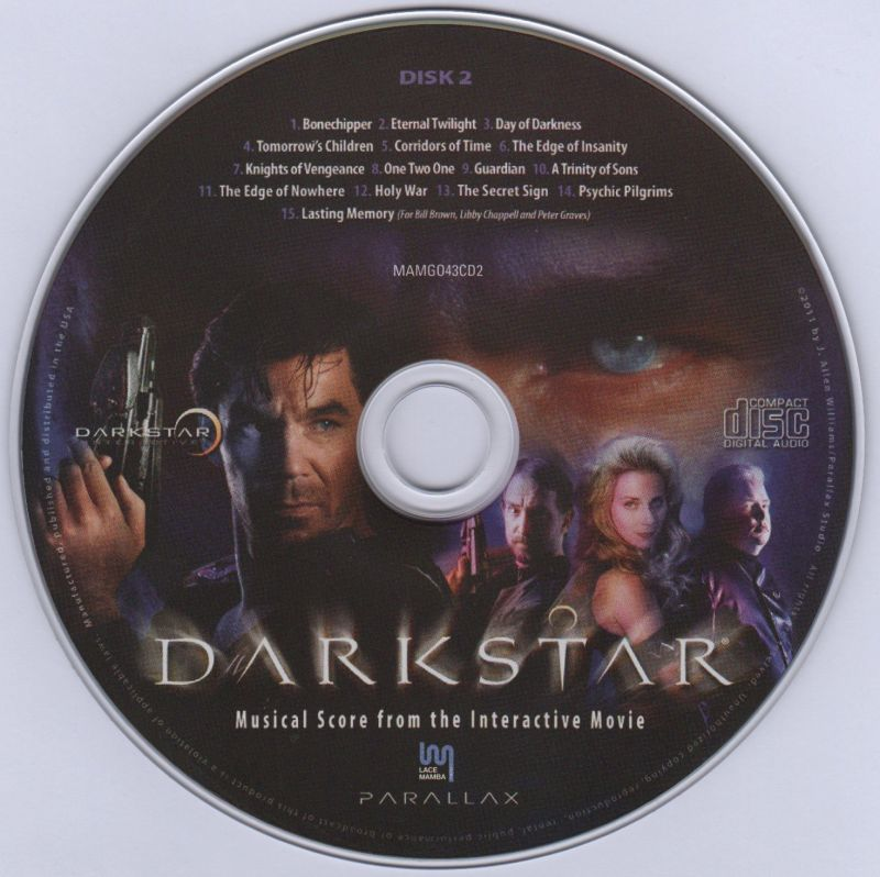 DARKSTAR: The Interactive Movie Macintosh Media Soundtrack Disc 2