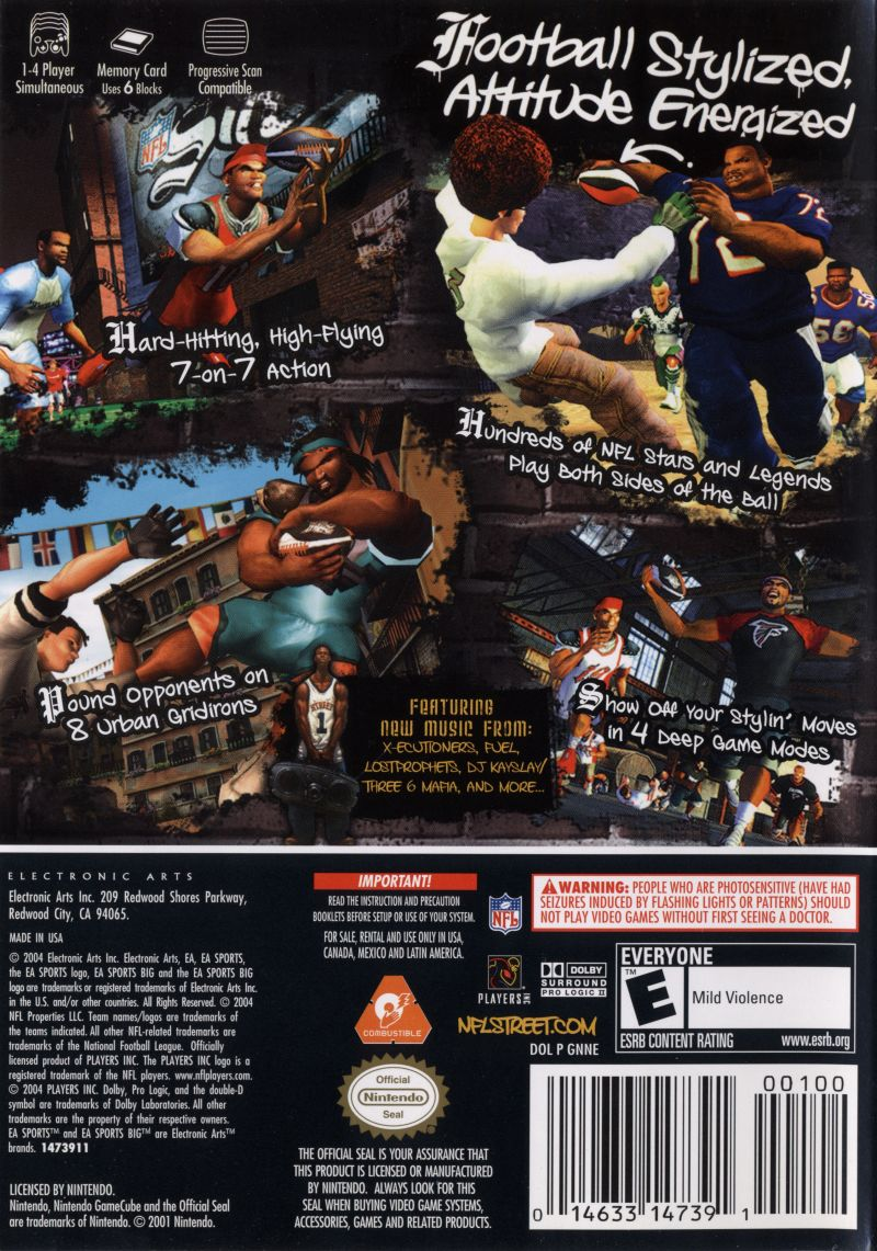 NFL Street GameCube Back Cover