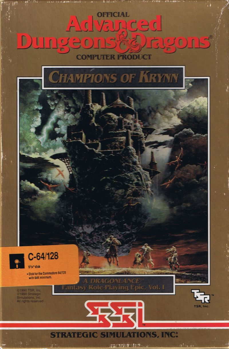 Champions of Krynn Commodore 64 Front Cover