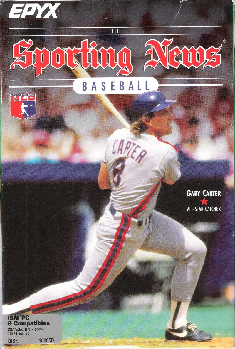 The Sporting News Baseball DOS Front Cover