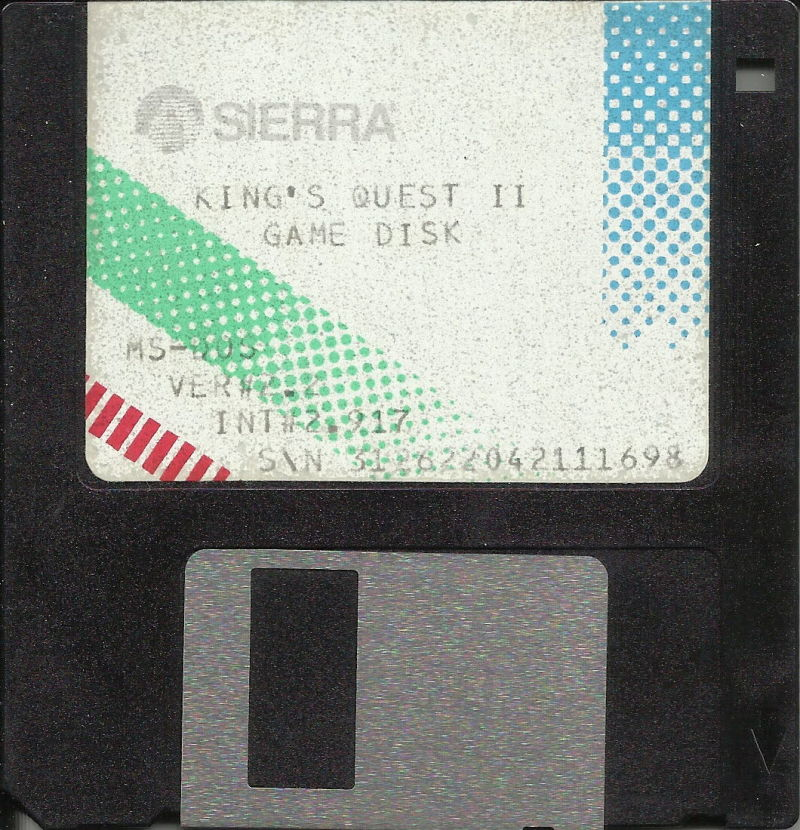"""King's Quest II: Romancing the Throne DOS Media 3.5"""" Disk 1/1"""