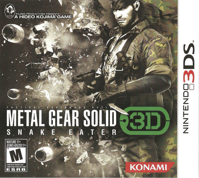 Metal Gear Solid: Snake Eater 3D Nintendo 3DS Front Cover