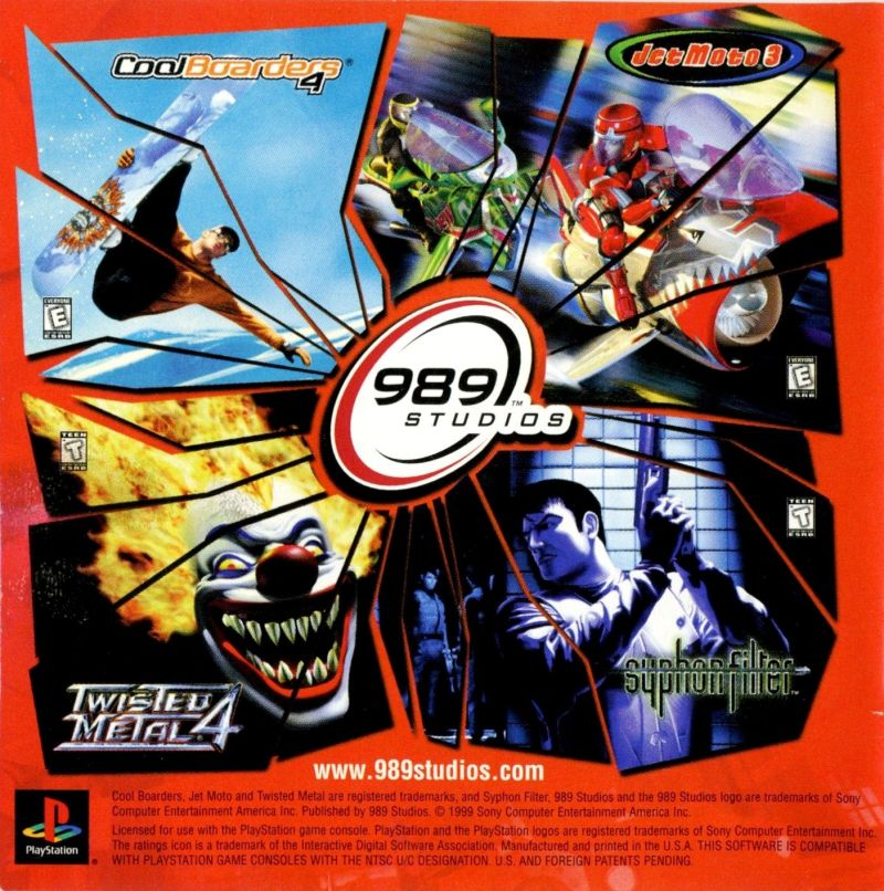 Twisted Metal 4 PlayStation Inside Cover Left