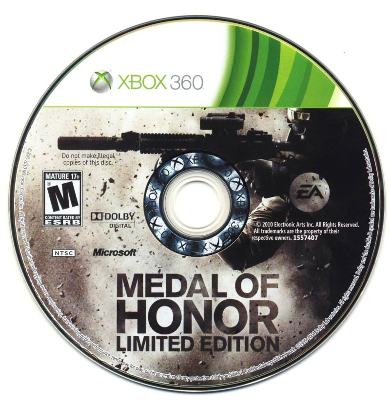 Medal of Honor (Limited Edition) Xbox 360 Media