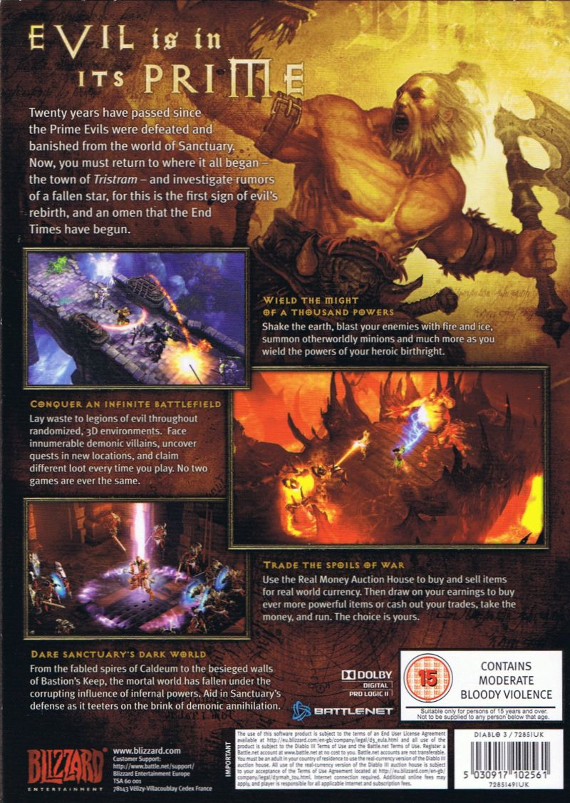 Diablo III Macintosh Back Cover Outer Box