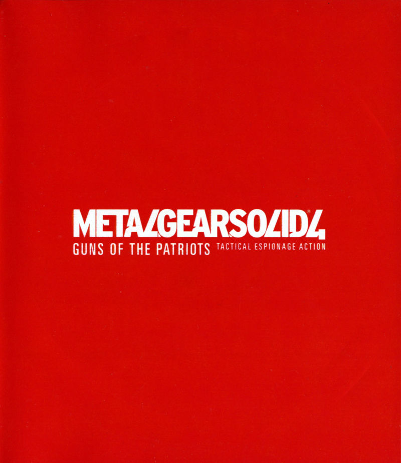 Metal Gear Solid 4: Guns of the Patriots PlayStation 3 Inside Cover right