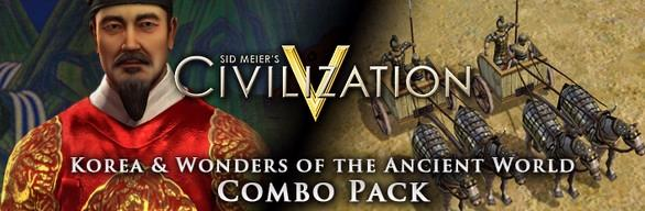 Sid Meier's Civilization V: Korea and Wonders of the Ancient World - Combo Pack Linux Front Cover