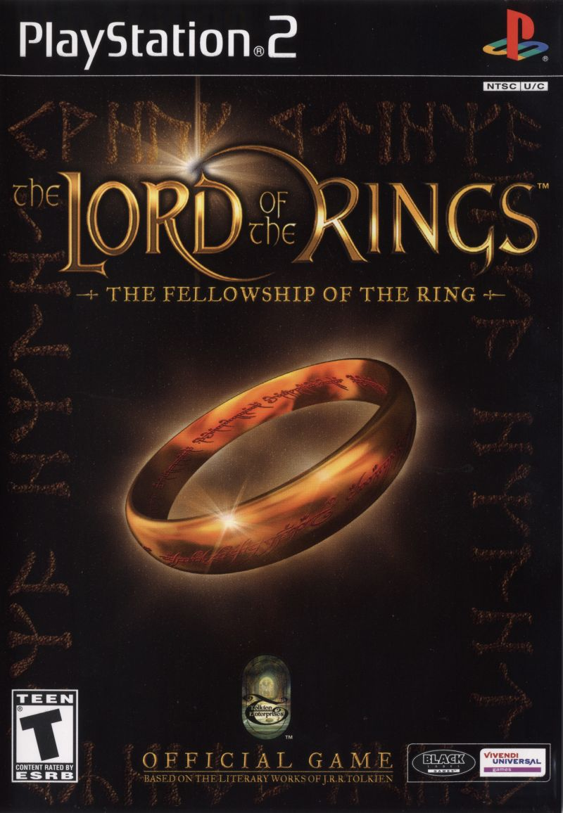 The Lord of the Rings: The Fellowship of the Ring PlayStation 2 Front Cover