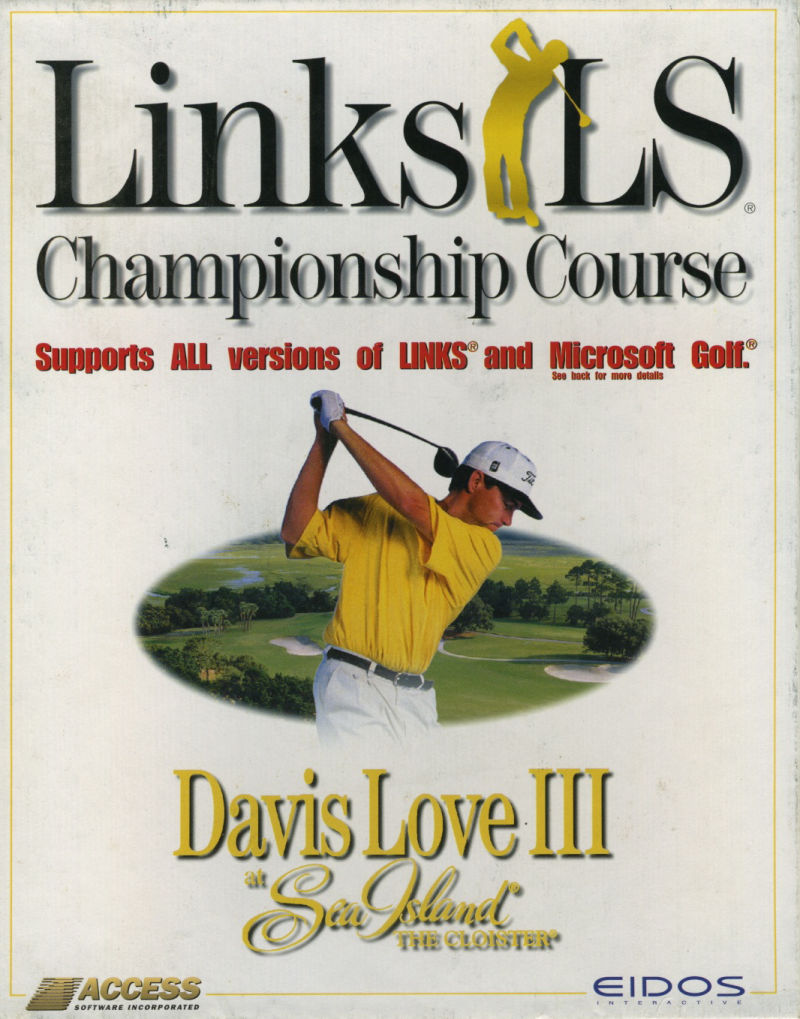 Links LS: Championship Course & Tour Player - Sea Island and Davis Love III Windows Front Cover
