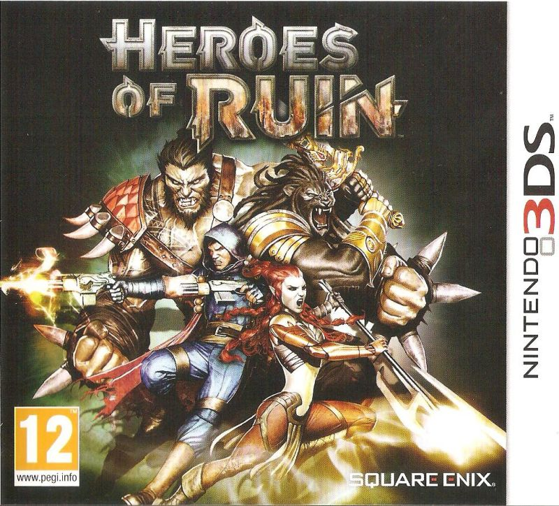 Heroes of Ruin Nintendo 3DS Front Cover