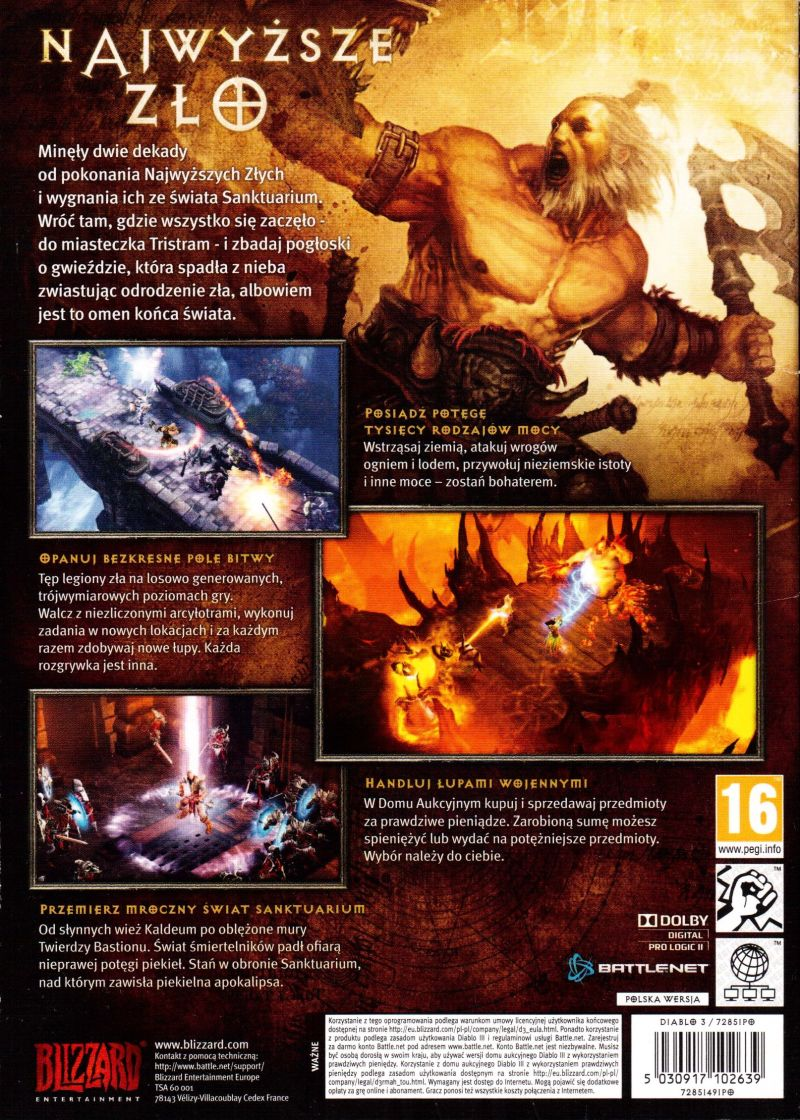 Diablo III Windows Back Cover