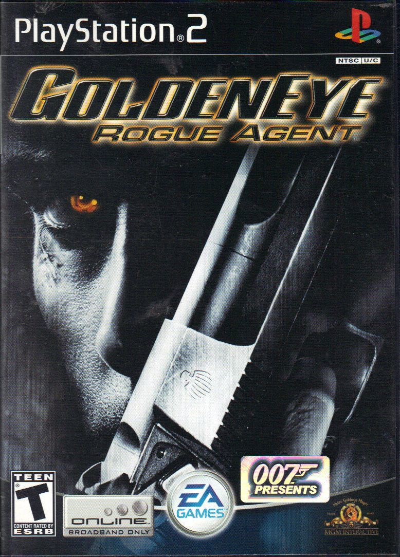GoldenEye: Rogue Agent PlayStation 2 Front Cover with hologram sticker outside case