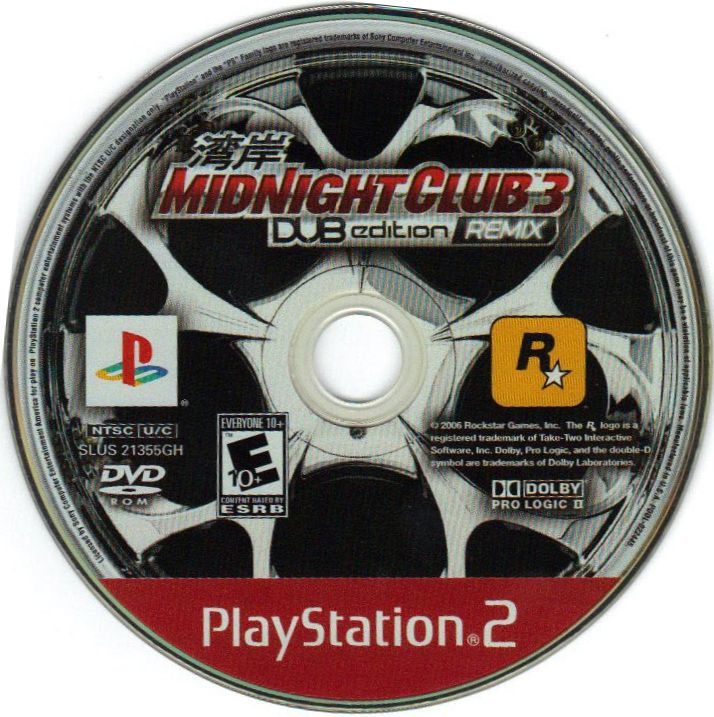 midnight club 3 dub edition remix 2006 playstation 2 box cover art mobygames. Black Bedroom Furniture Sets. Home Design Ideas