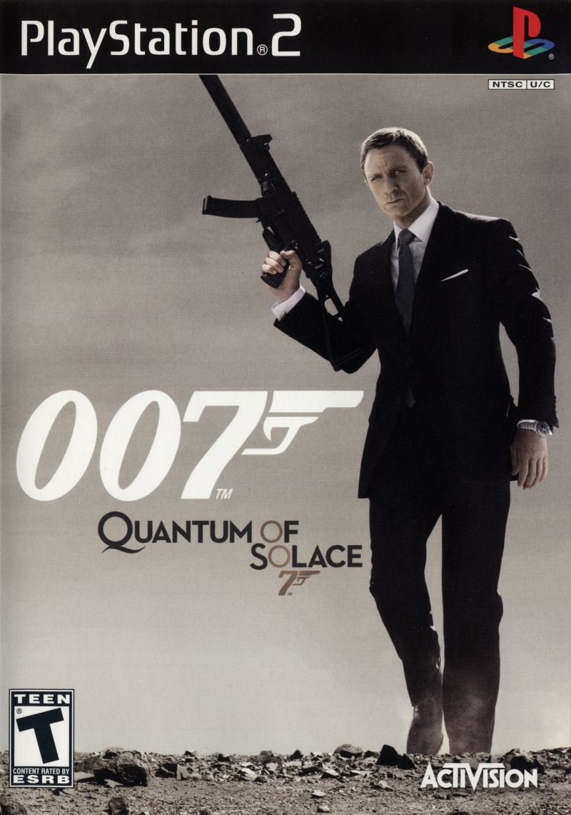 007: Quantum of Solace PlayStation 2 Front Cover