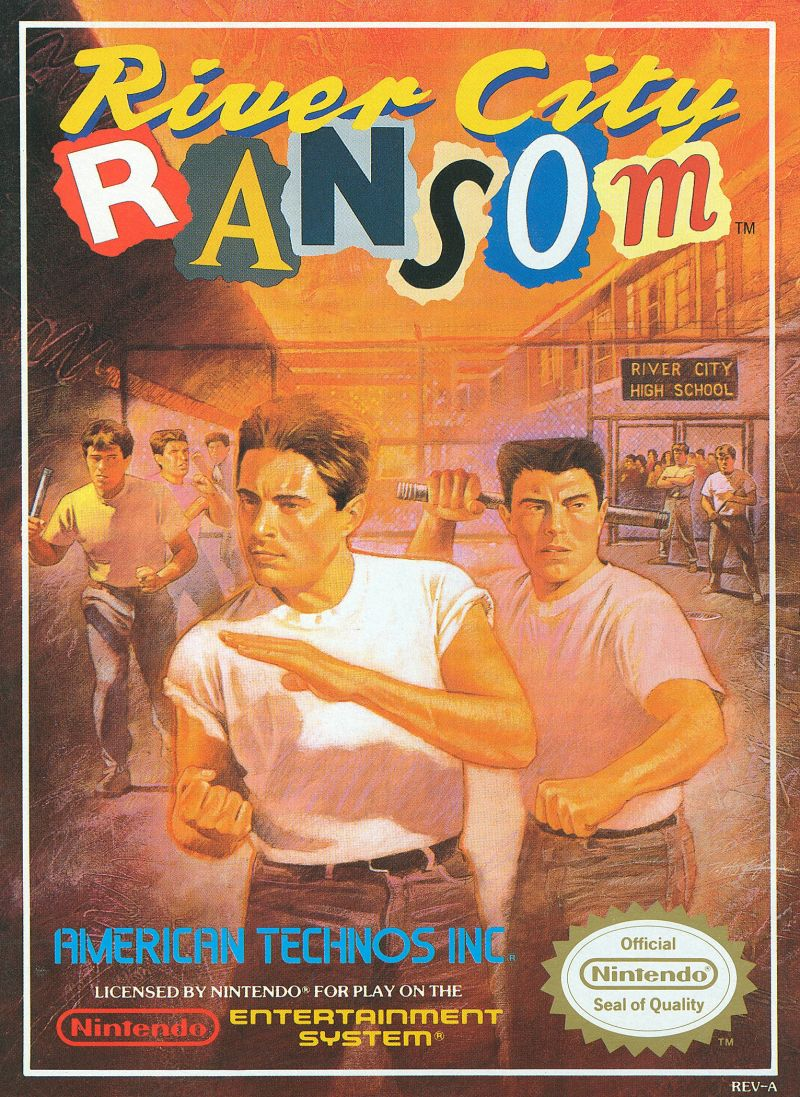 river city ransom 1989 nes box cover art mobygames