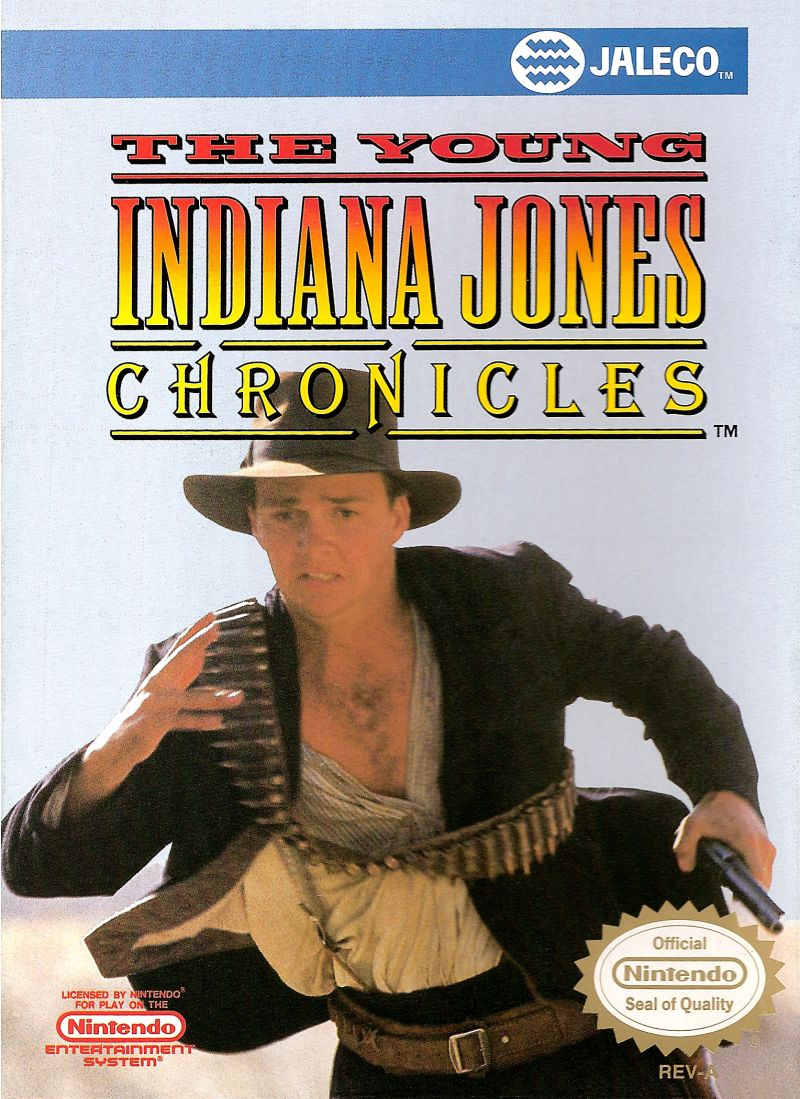 The Young Indiana Jones Chronicles NES Front Cover